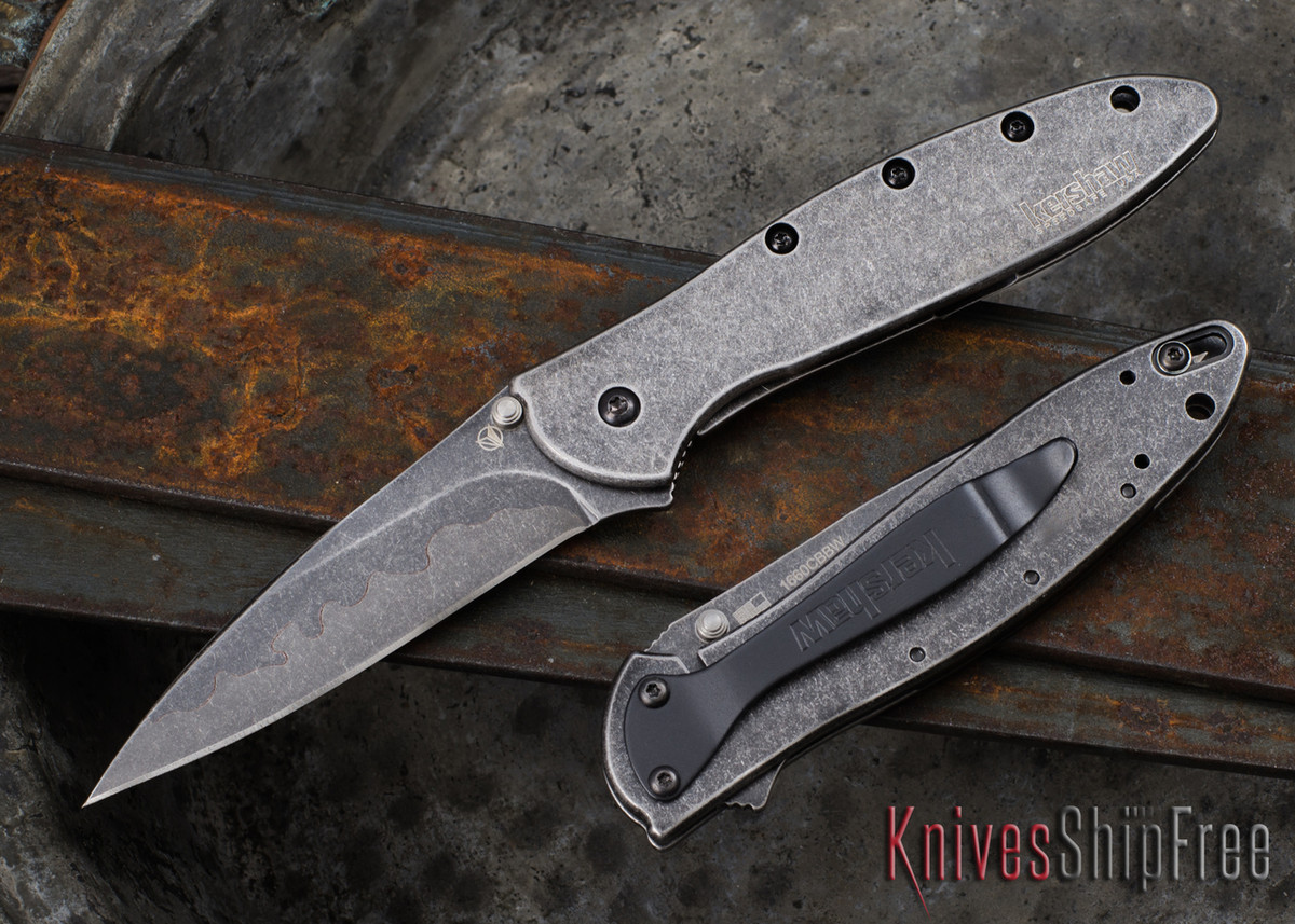 Kershaw Knives: Leek - Composite Blade - Blackwash Finish - Assisted Opening - 1660CBBW
