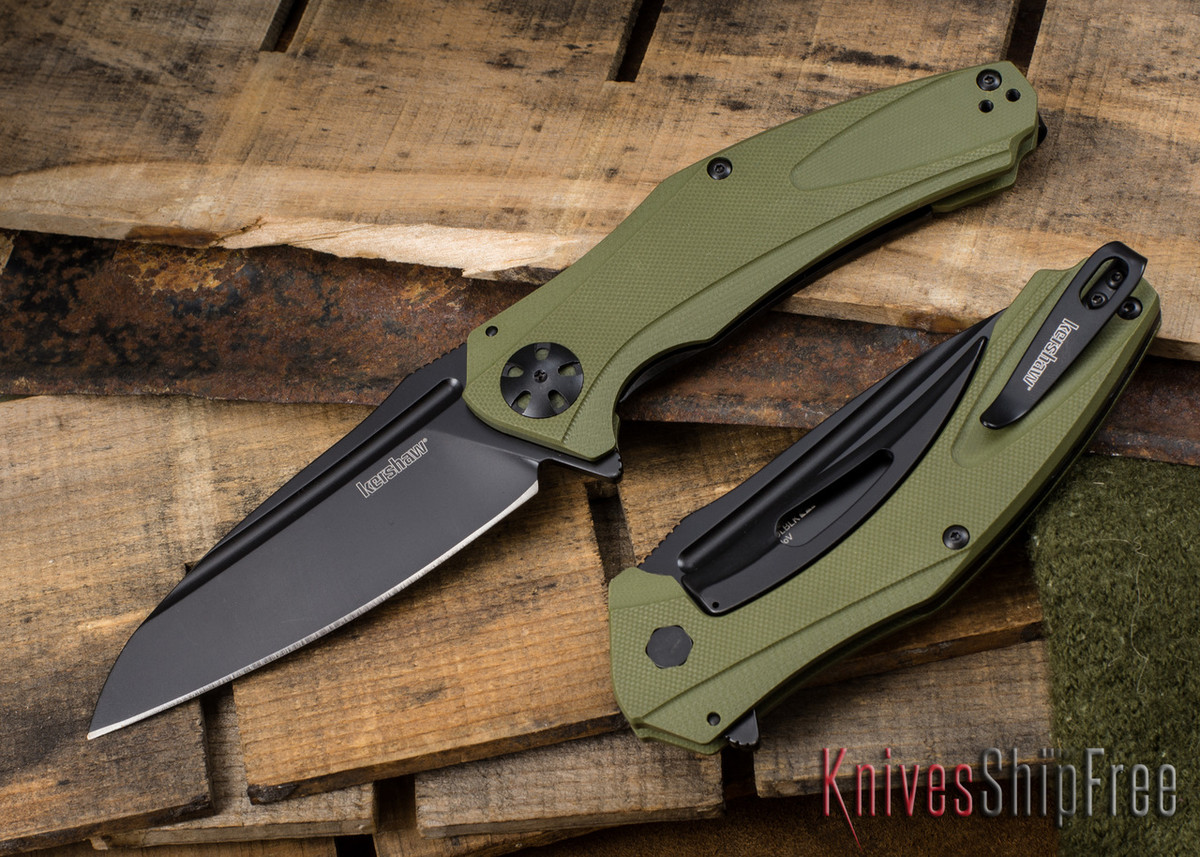 Kershaw Knives: Natrix XL - Green G-10 - Black Blade - 7008OLBLK primary image