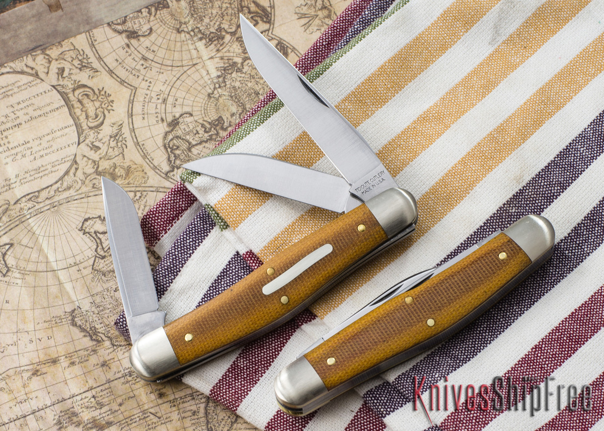 Great Eastern Cutlery: #82 Tidioute - Dixie Stockman - Natural Canvas Micarta primary image