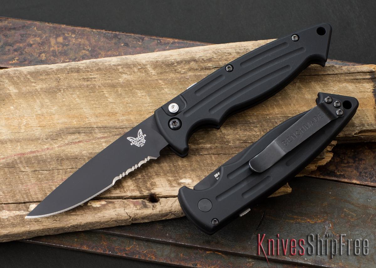 Benchmade Knives: 2551SBK Mini Reflex - Auto - Serrated Black Blade primary image