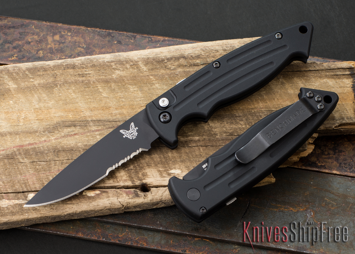 Benchmade Knives: 2551SBK Mini Reflex - Auto - Serrated Black Blade primary image