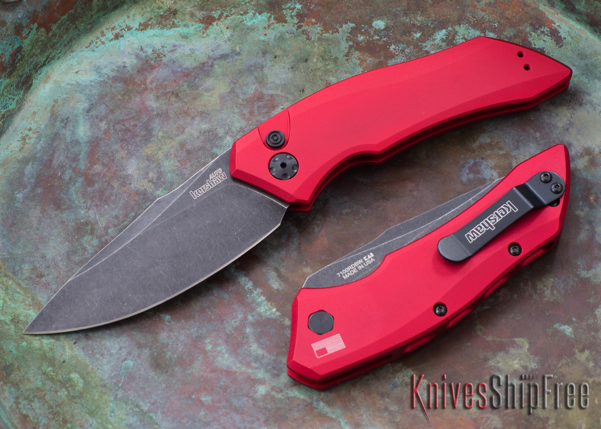 Kershaw Knives: Launch 1 Red - Blackwash - 7100RDBW primary image