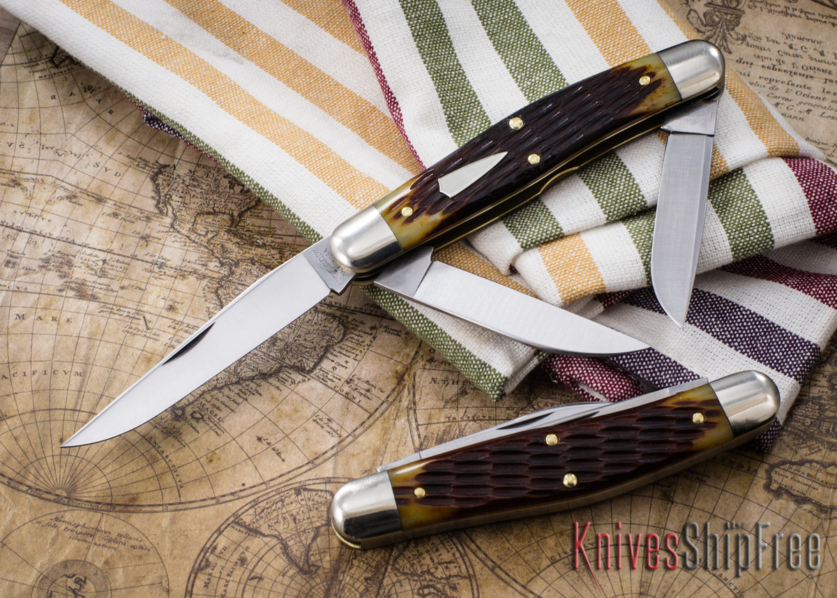 Great Eastern Cutlery: #82 Tidioute - Dixie Stockman - Copperhead Jigged Bone primary image
