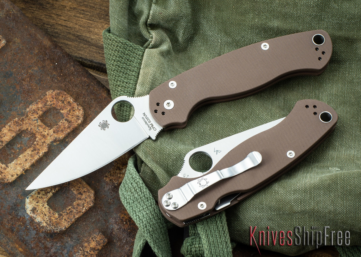 Spyderco: Paramilitary 2 - Limited Run - Brown G-10 - CPM-S35Vn - C81GPBN2
