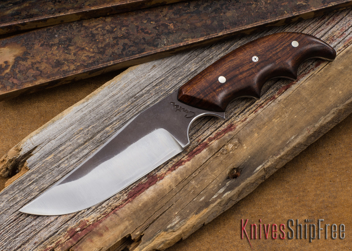 Carter Cutlery: #1386 Clave/Combat Hybrid - Desert Ironwood - Laminated White Steel primary image