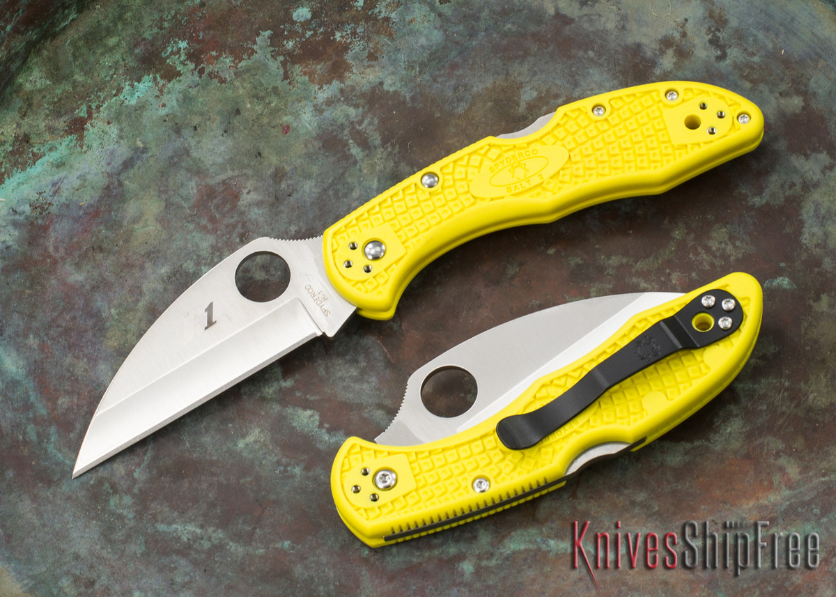 Spyderco: Salt 2 Wharncliffe - Yellow FRN - H1 Steel - C88PWCYL2 primary image