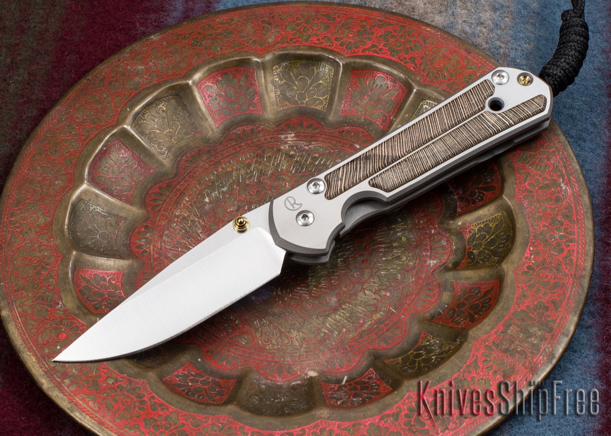 Chris Reeve Knives: Small Sebenza 21 - Striped Platan - 010705 primary image