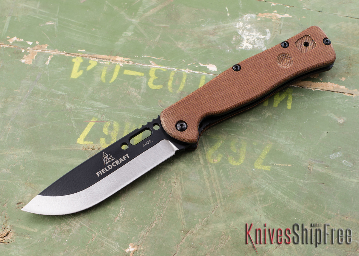 TOPS Knives: Fieldcraft Folder - Tan Canvas Micarta primary image