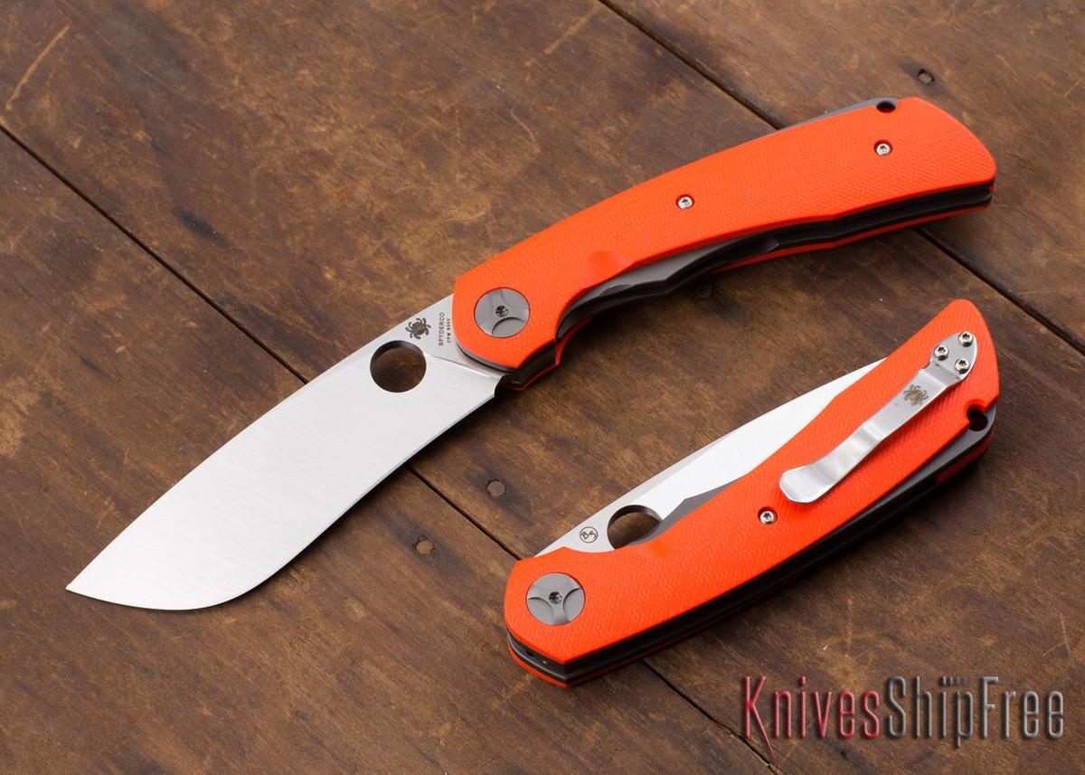 Spyderco: Subvert - Nati Amor Titanium LinerLock - Orange G-10 - CPM-S30V - C239GPOR primary image