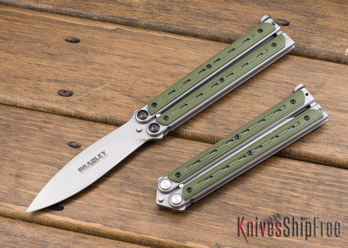 Bradley: Kimura Butterfly Knife - OD Green G-10 - 154CM primary image