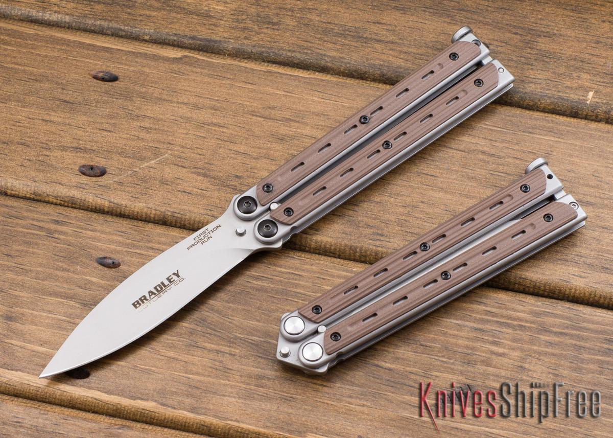 Bradley: Kimura Butterfly Knife - Coyote G-10 - 154CM primary image
