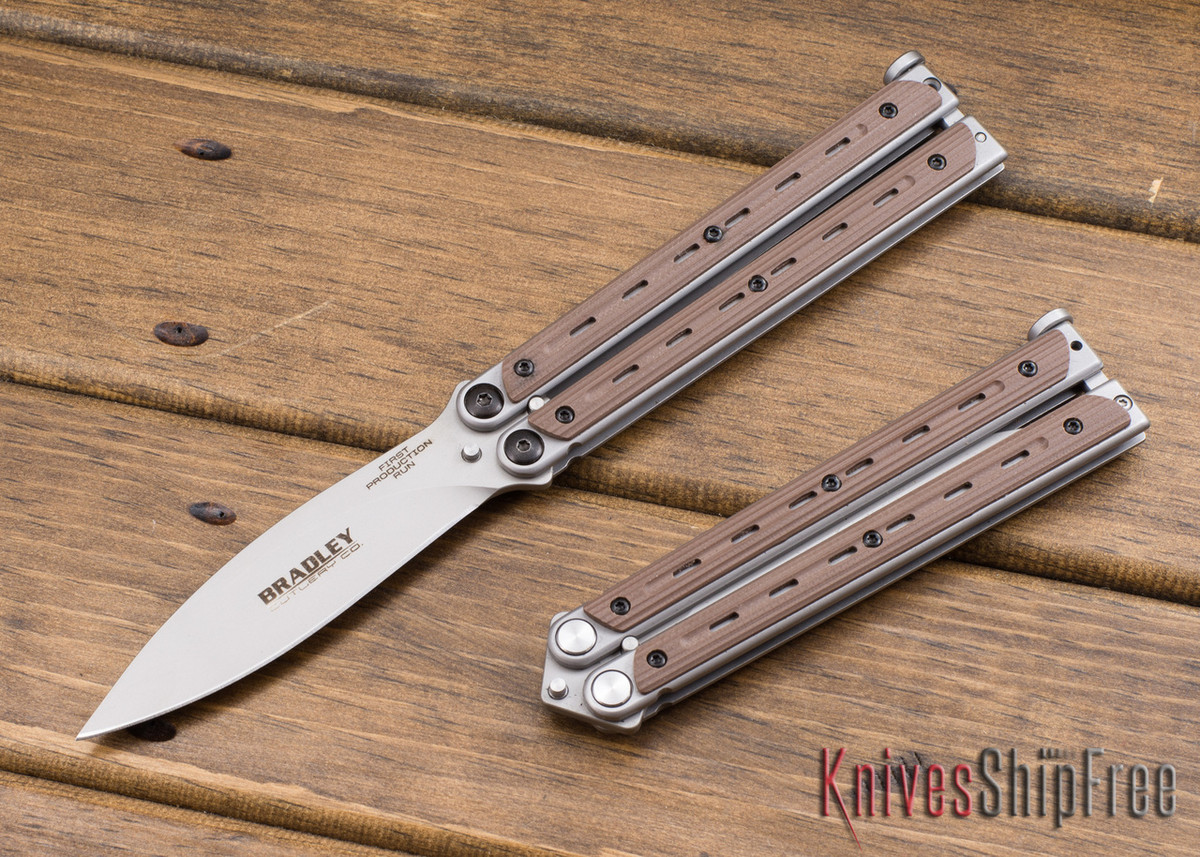 Bradley: Kimura Butterfly Knife - Coyote G-10 - 154CM primary image