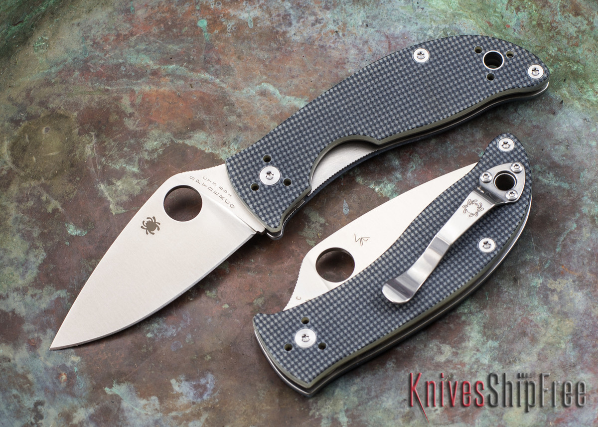 Spyderco: Alcyone - Grey G-10 - CTS-BD1 - C222GPGY primary image