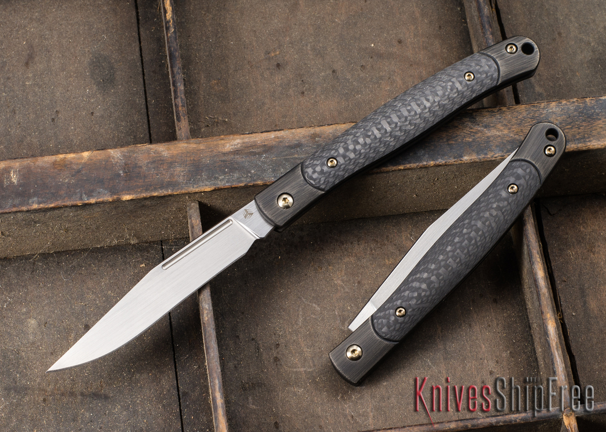 WE Knife: Gentry Slipjoint - Black Titanium - Carbon Fiber Inlay - CPM-S35VN - Hand Rubbed Satin Finish primary image