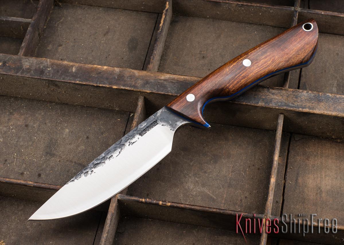 Lon Humphrey Knives: Bridger - Desert Ironwood - Blue Liners - 020843 primary image