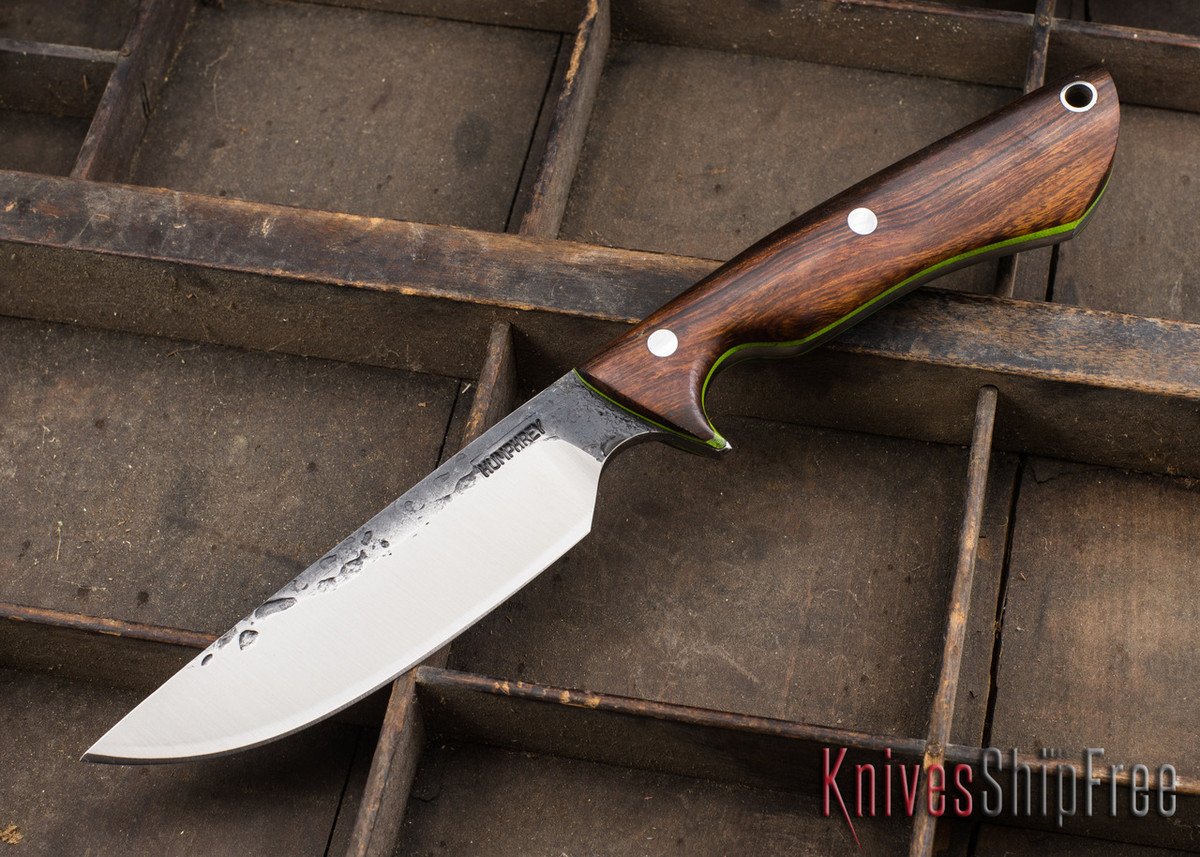 Lon Humphrey Knives: Bridger - Desert Ironwood - Lime Green Liners - 020846 primary image