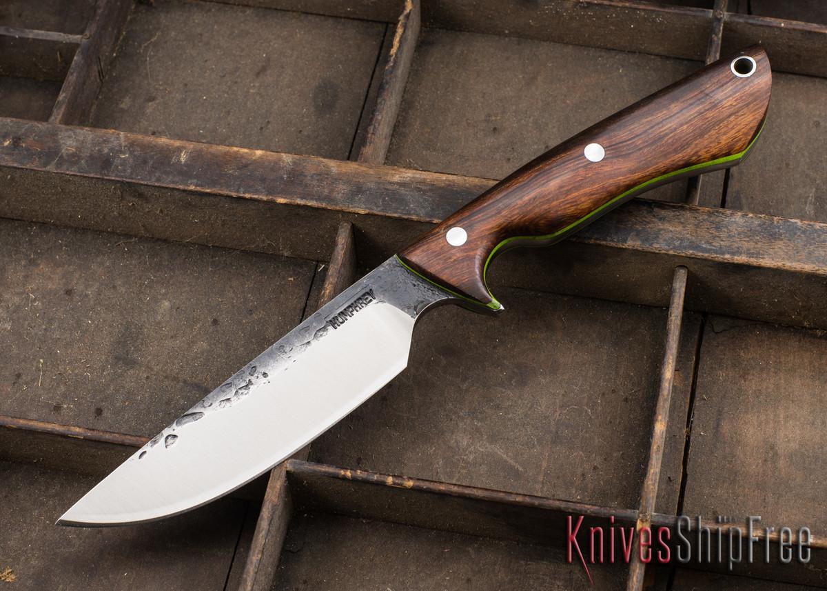 Lon Humphrey Knives: Bridger - Desert Ironwood - Lime Green Liners - 020846 primary image