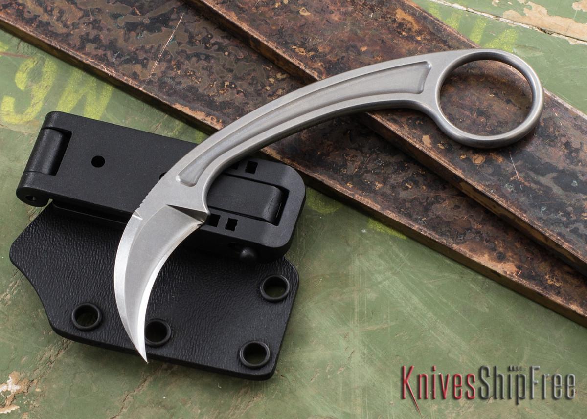 Bastinelli Knives: Pika - Stonewashed N690CO - Karambit by Doug Marcaida primary image