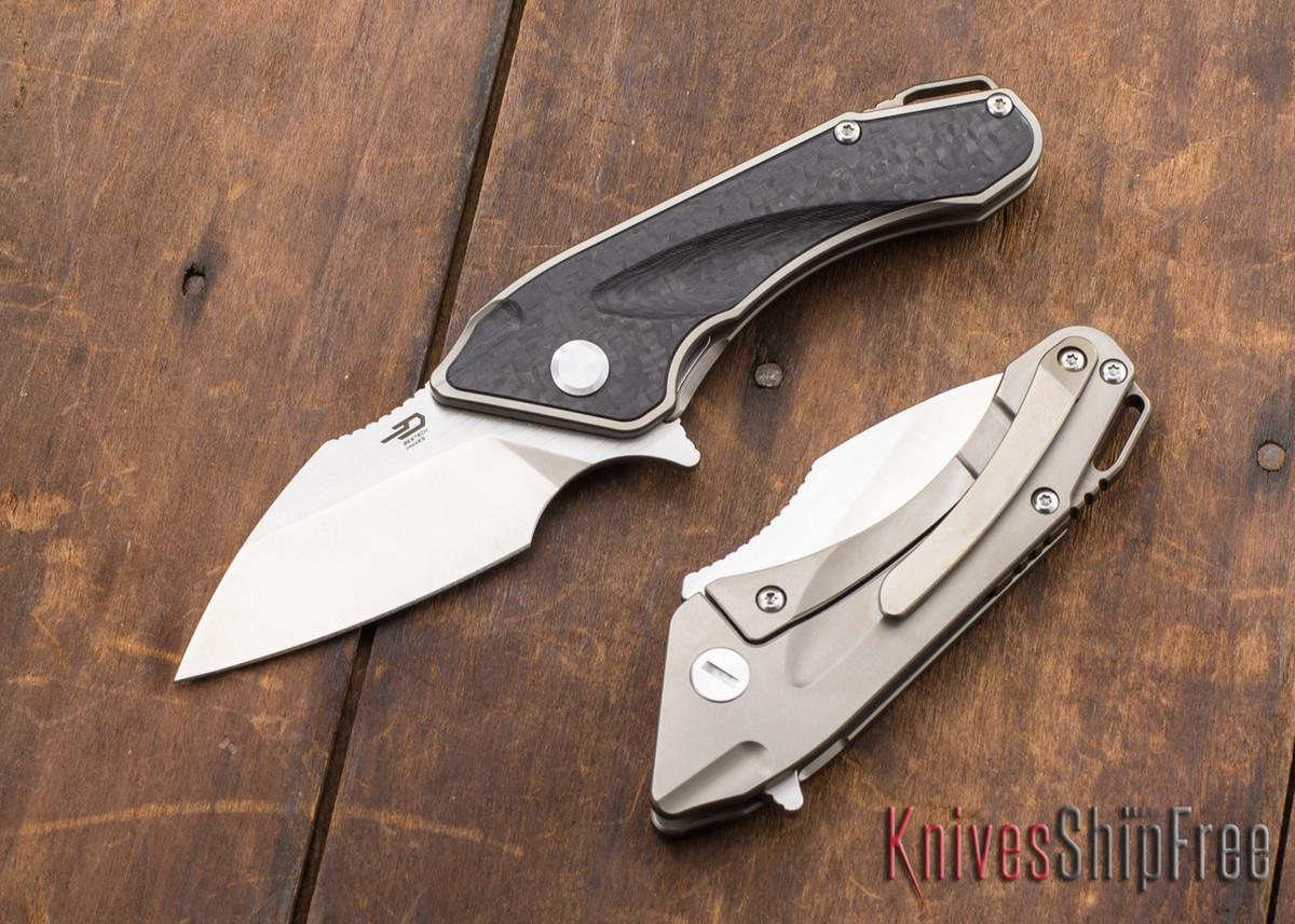 Bestech Knives: Goblin - Titanium Framelock - Carbon Fiber Inlay - CPM-S35VN primary image