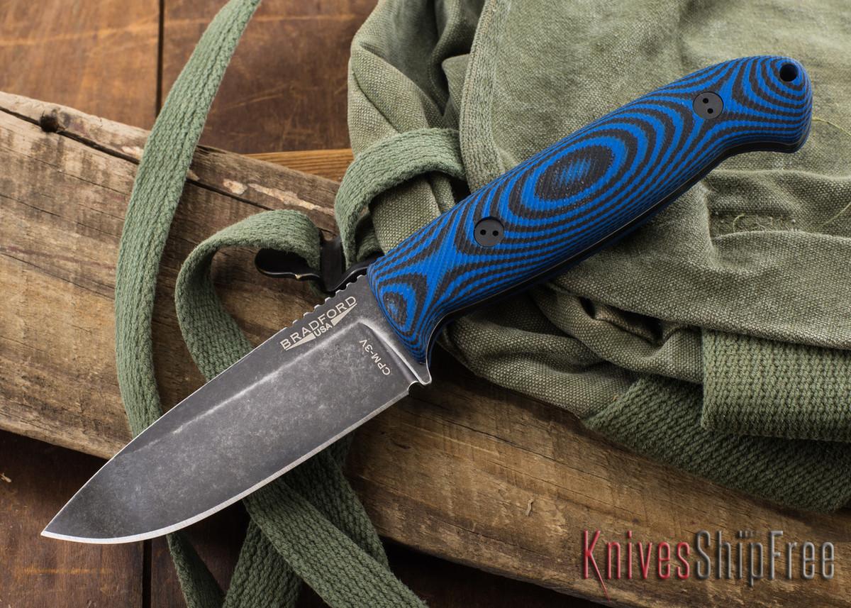 Bradford Knives: Guardian 4.5 - 3D Black & Blue G-10 - CPM-3V - Nimbus Finish primary image