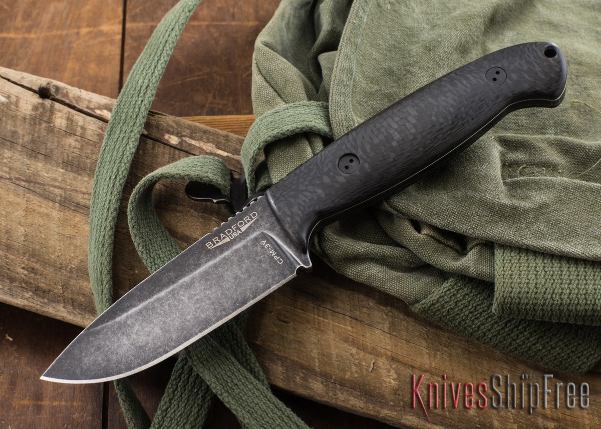 Bradford Knives: Guardian 4.5 - 3D Carbon Fiber - CPM-3V - Nimbus Finish