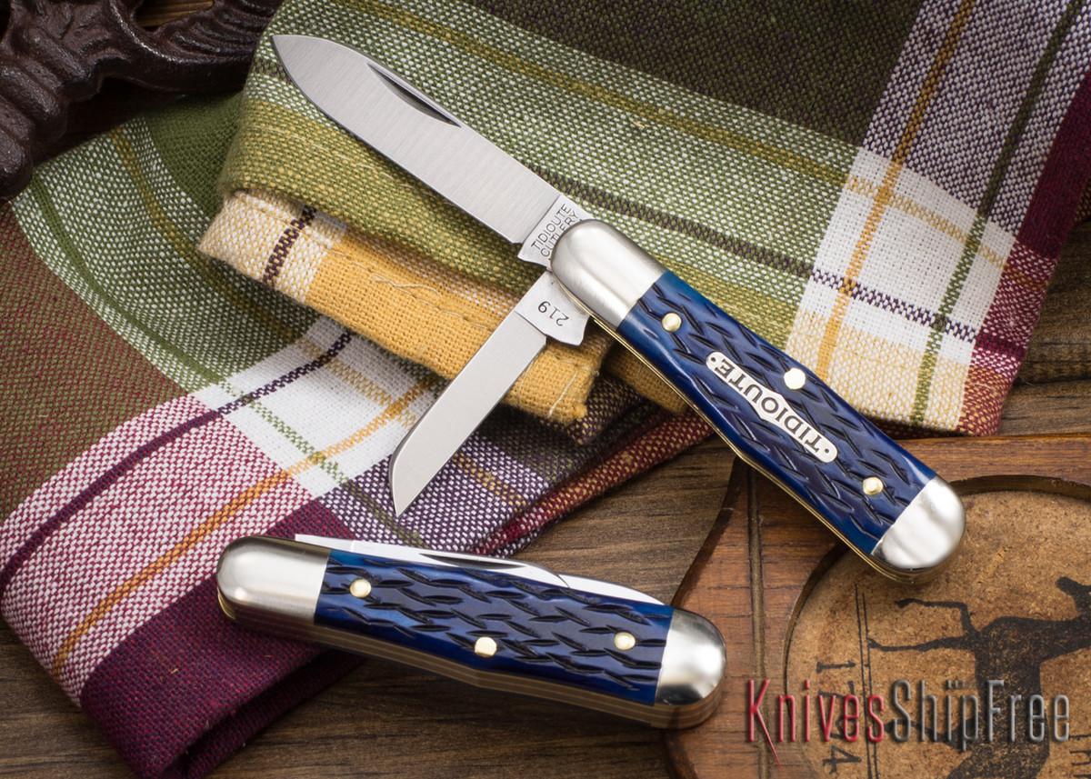 Great Eastern Cutlery: #06 Tidioute - Pemberton 2-Blade - Dark Blue Jigged Bone primary image