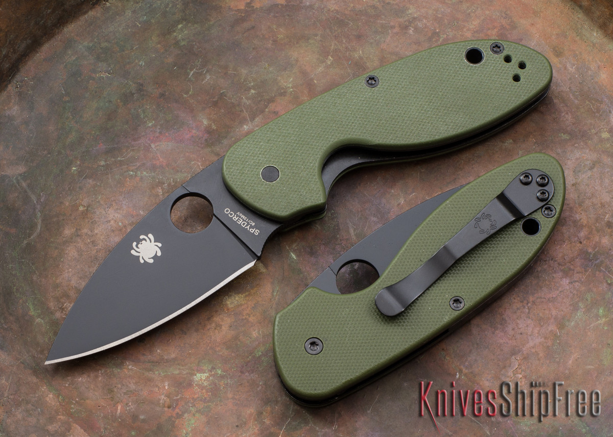 Spyderco: Efficient - Black Blade - Green G-10 - C216GPGRBK