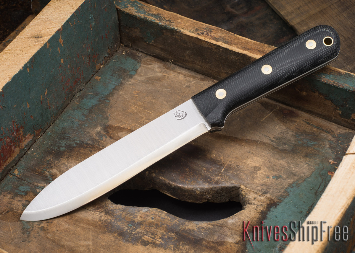 L.T. Wright Knives: Gen 6 - Larry Roberts Signature - Black Micarta - Matte - White Liners primary image