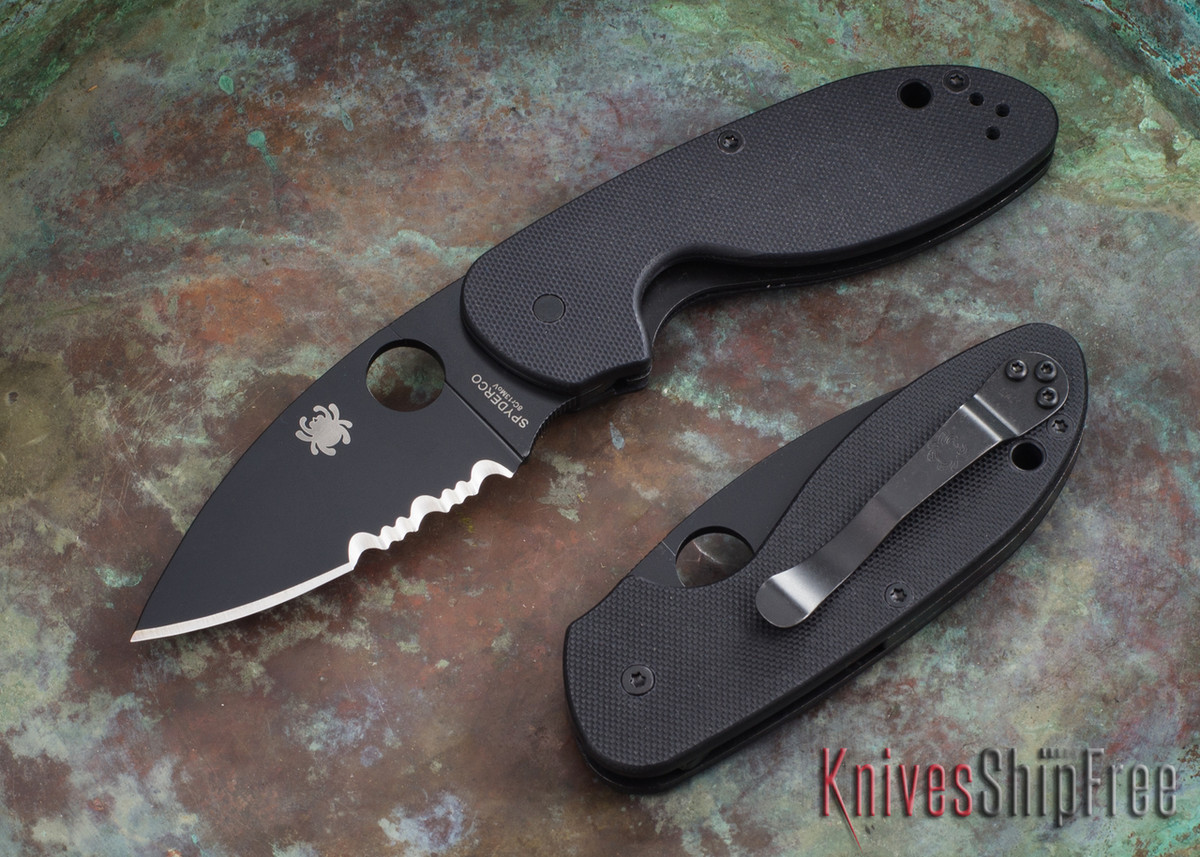 Spyderco: Efficient - Black Serrated Blade - Black G-10 - C216GPSBBK primary image