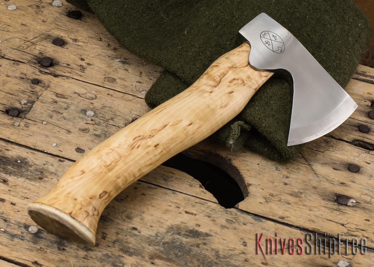 "Karesuando Kniven: ""Unna Aksu"" Hunter's Hatchet - Curly Birch - Stainless Steel - 106 primary image"