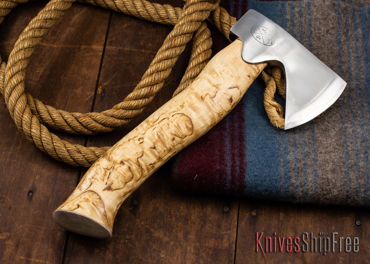 "Karesuando Kniven: ""Unna Aksu"" Hunter's Hatchet - Curly Birch - Stainless Steel - 314 primary image"