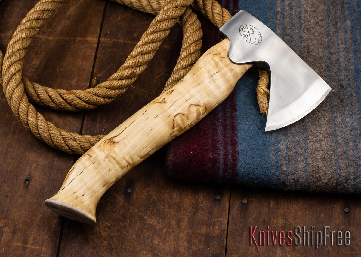 "Karesuando Kniven: ""Unna Aksu"" Hunter's Hatchet - Curly Birch - Stainless Steel - 340 primary image"