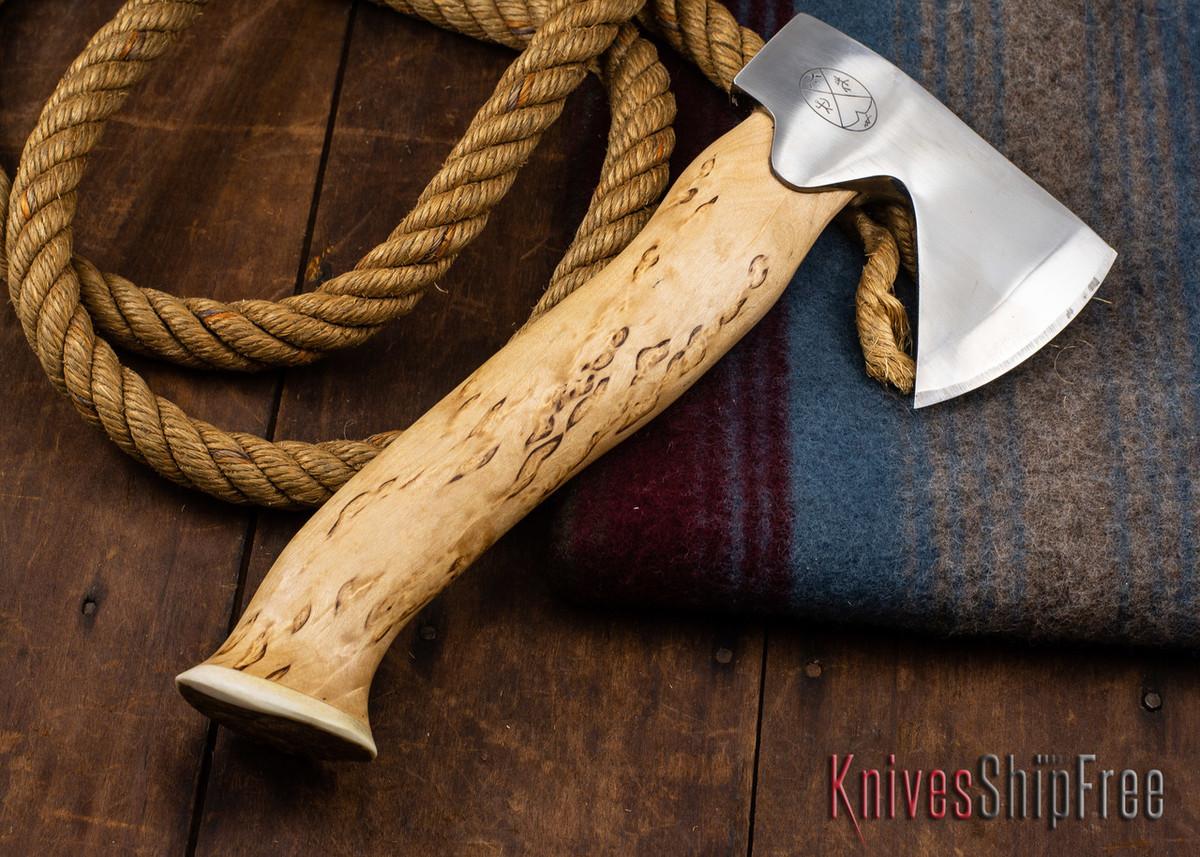 "Karesuando Kniven: ""Unna Aksu"" Hunter's Hatchet - Curly Birch - Stainless Steel - 347 primary image"