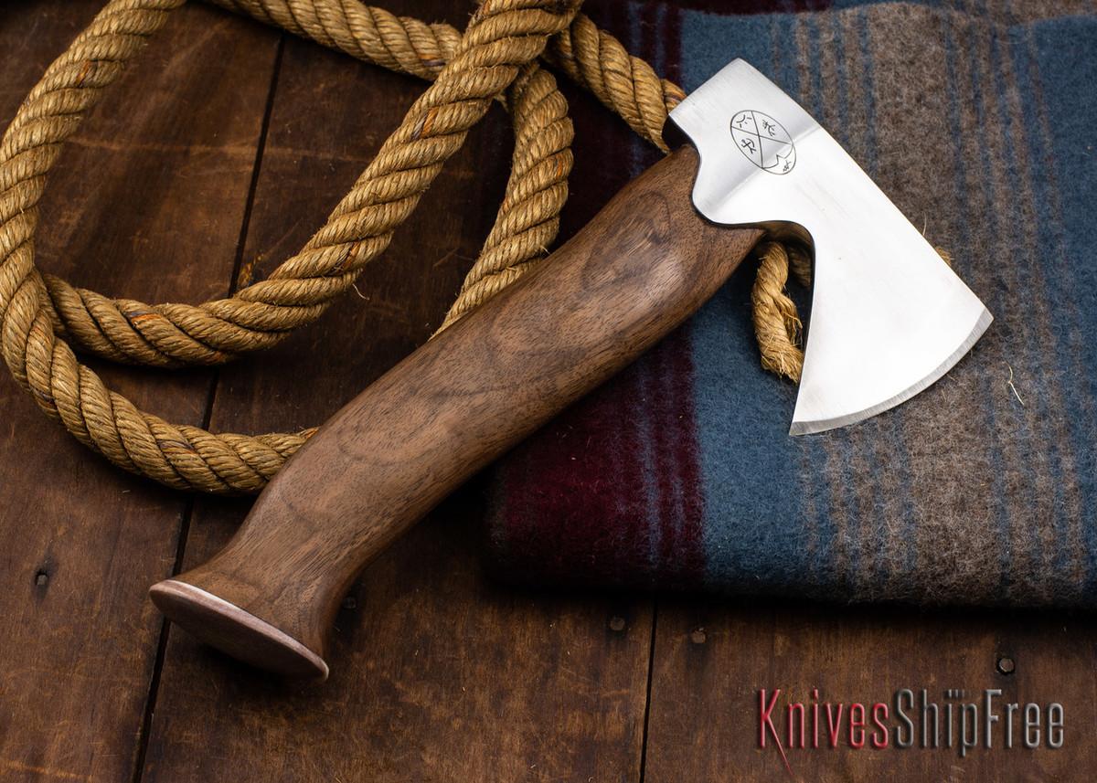 "Karesuando Kniven: ""Unna Aksu"" Hunter's Hatchet - Walnut - Stainless Steel - 394 primary image"