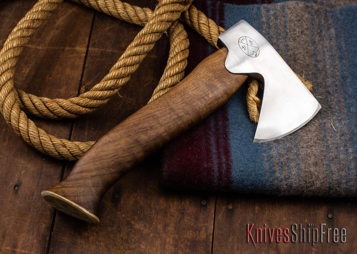 "Karesuando Kniven: ""Unna Aksu"" Hunter's Hatchet - Walnut - Stainless Steel - 397 primary image"
