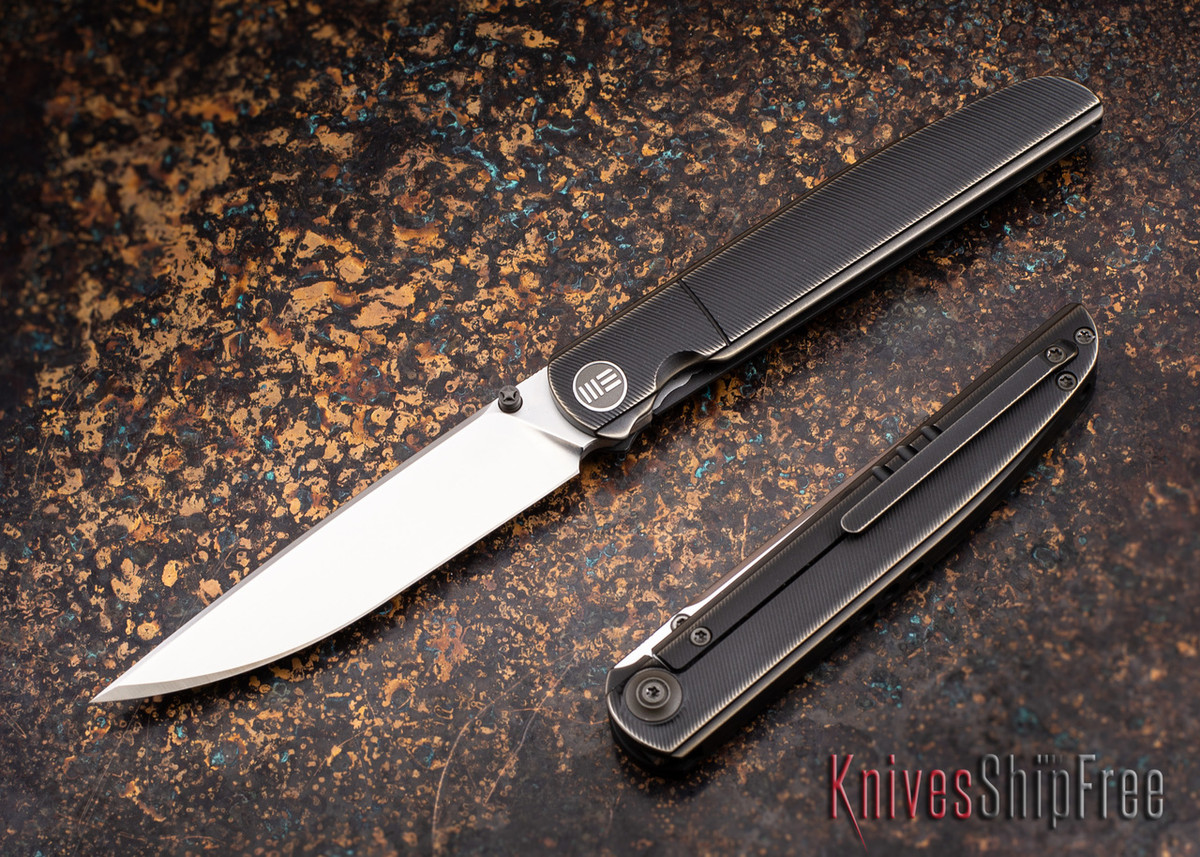 WE Knife: 618 Framelock - Bronze Titanium - M390 Hand-Rubbed Satin Blade primary image