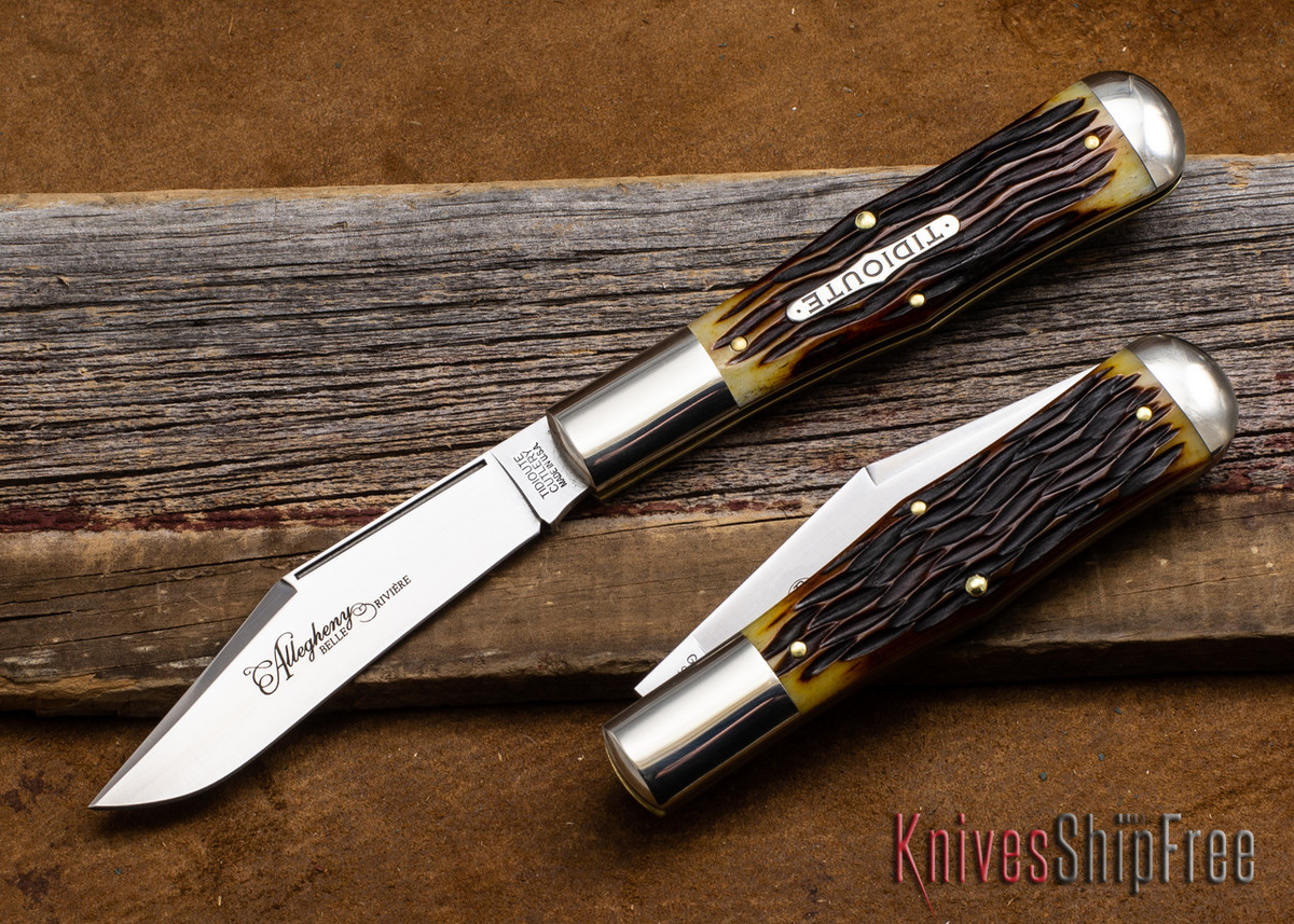 Great Eastern Cutlery: #97 Tidioute - Allegheny - Autumn Gold Jigged Bone primary image