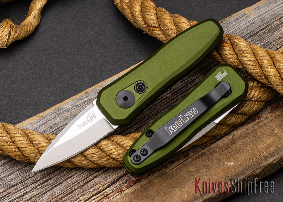 Kershaw Knives: Launch 4 - Olive Green Aluminum - CPM-154 - Stonewash - 7500OLSW primary image