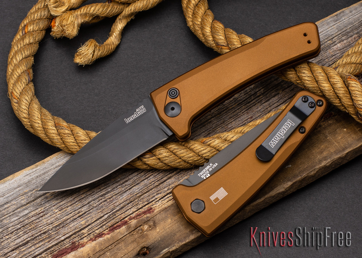 Kershaw Knives: Launch 3 - Earth Brown Aluminum - CPM-154 - Black DLC - 7300EBBLK primary image