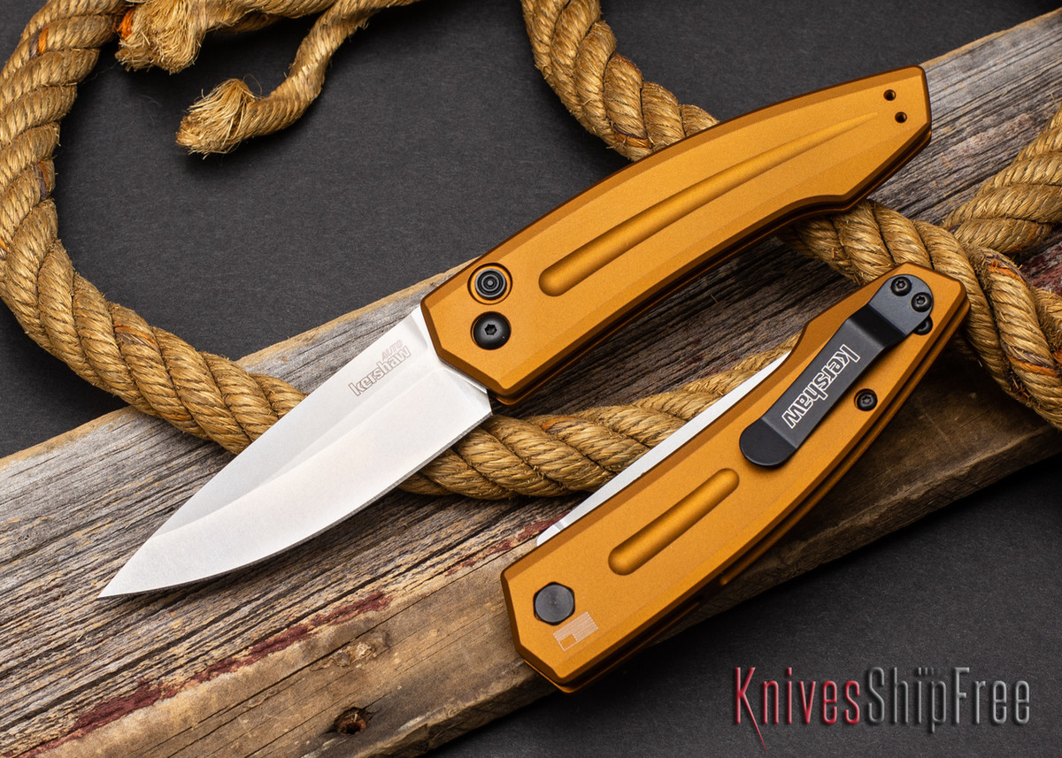 Kershaw Knives: Launch 2 - Earth Brown Aluminum - CPM-154 - Stonewash - 7200EBSW primary image