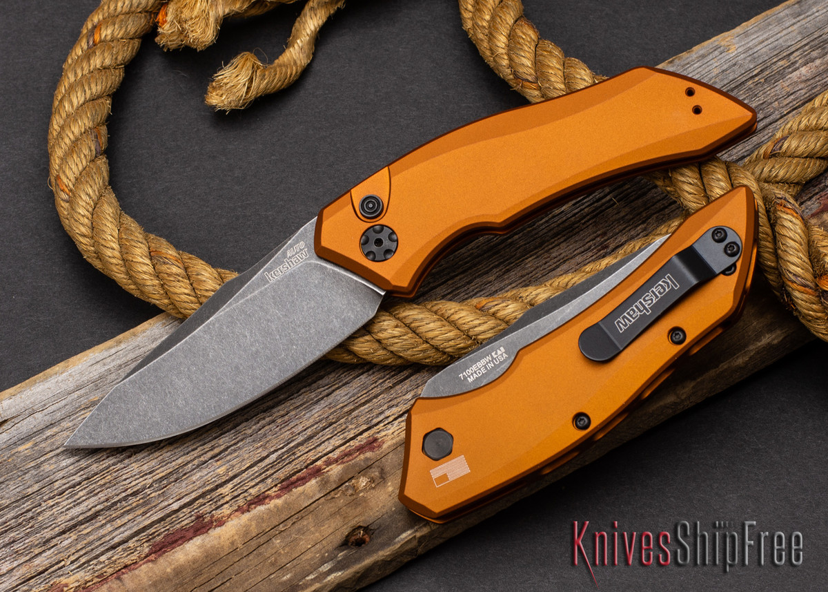 Kershaw Knives: Launch 1 - Earth Brown Aluminum - CPM-154 - Blackwash - 7100EBBW primary image