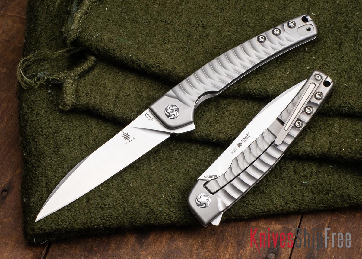 Kizer Cutlery: Splinter - Titanium Gentleman's Folder - Framelock - CPM-S35Vn primary image