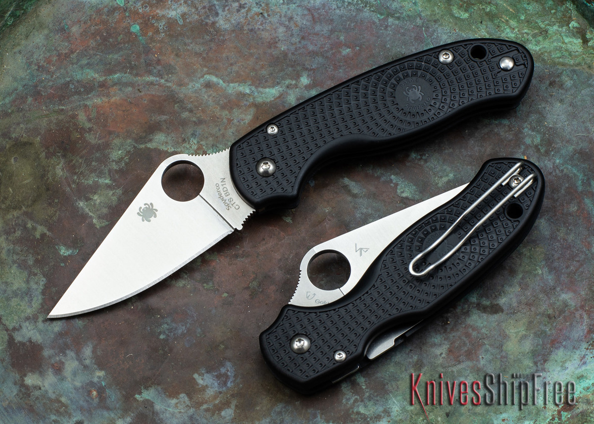 Spyderco: Para 3 Lightweight - Black FRN - CTS-BD1N - C223PBK primary image