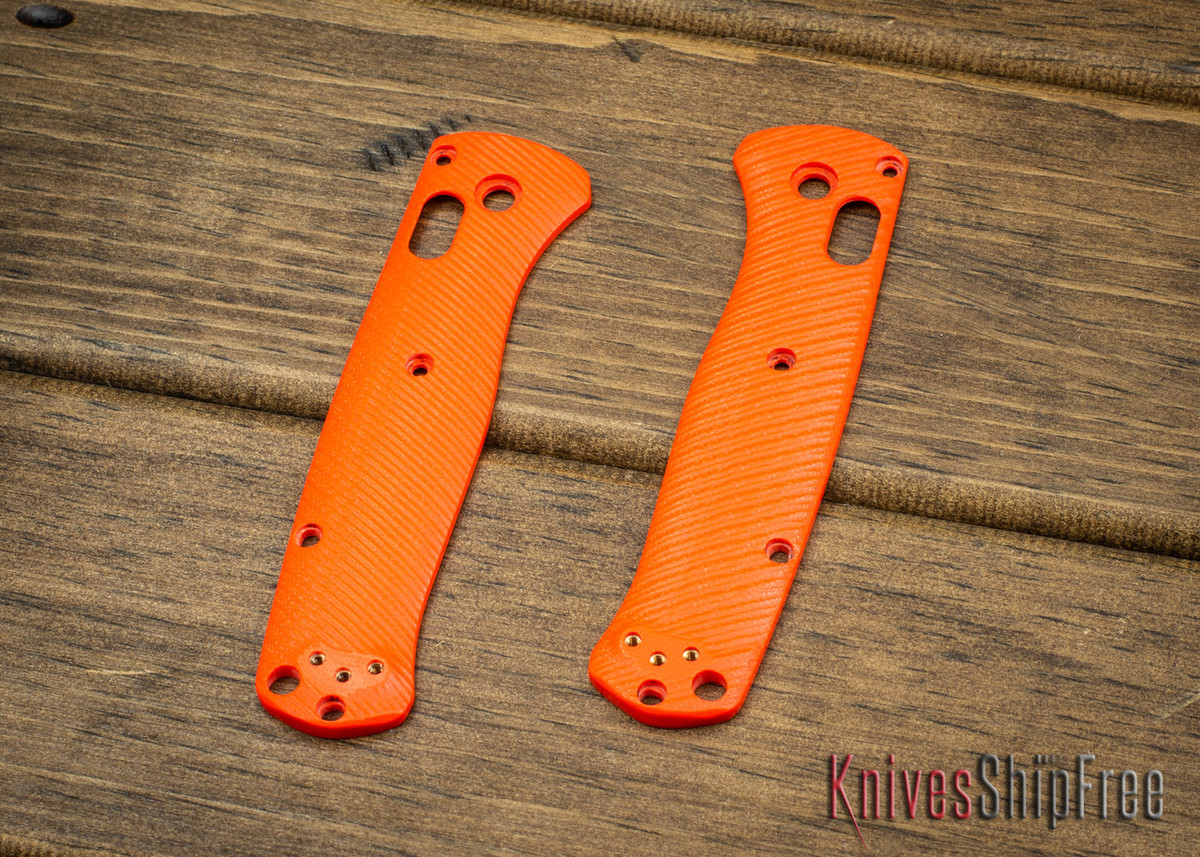 Custom Benchmade Bugout Scales - Orange G-10 primary image