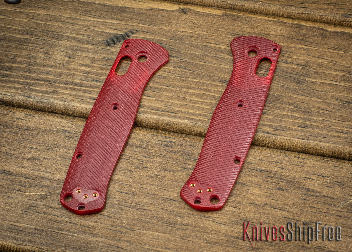 Custom Benchmade Bugout Scales - Red G-10 primary image