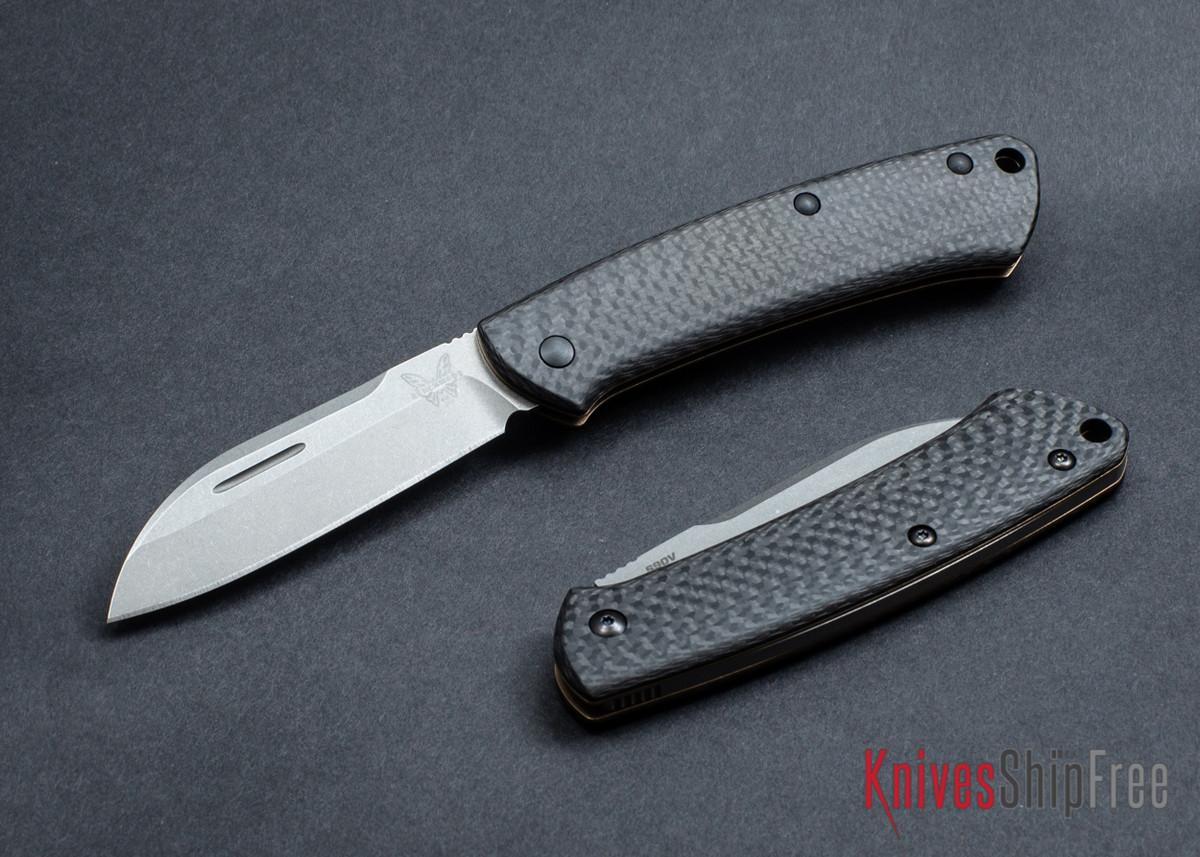 Benchmade Knives: 319-2 Proper - Carbon Fiber Slipjoint - CPM-S90V - Sheepsfoot primary image