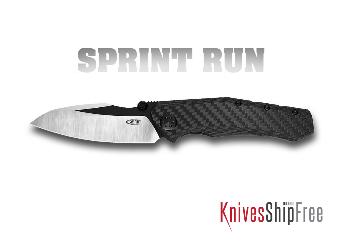 Zero Tolerance: 0850CF Sprint Run - Black Carbon Fiber - CPM 20CV - Two-Tone Finish primary image