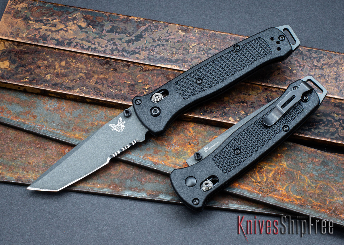 Benchmade Knives: 537SGY Bailout - CPM-3V - Tanto - Serrations - Gray Cerakote - AXIS Lock primary image
