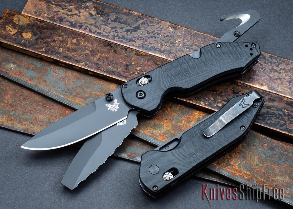 Benchmade Knives: 365BK Outlast - Drop Point S30V Blade & Opposing Bevel 3V Blade - Seatbelt Cutter - Glass Breaker primary image