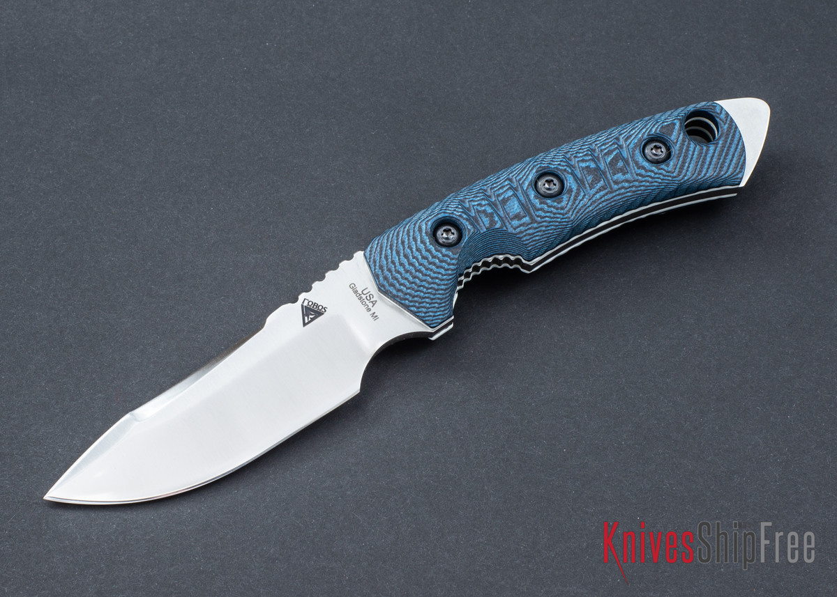 FOBOS: Tier-1 Mini - Blue-Black G10 - White Liner - Satin Finish primary image